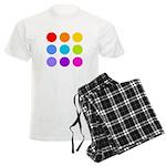 'Rainbow Polka Dot' Men's Light Pajamas