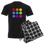 'Rainbow Polka Dot' Men's Dark Pajamas