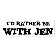 With Jen Bumper Bumper Sticker