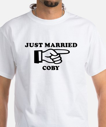 Just Married Coby White T-Shirt