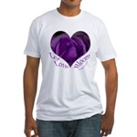 Jenny's Purple Roses, Let Love Bloom Fitted T-Shir
