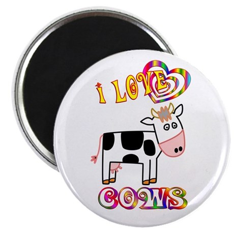 """I Love Cows 2.25"""" Magnet (100 pack)"""