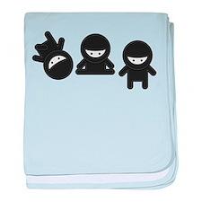 Like a Ninja baby blanket