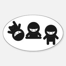 Like a Ninja Sticker (Oval)