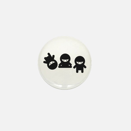 Like a Ninja Mini Button (10 pack)