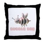 Bubble Bee Throw Pillow