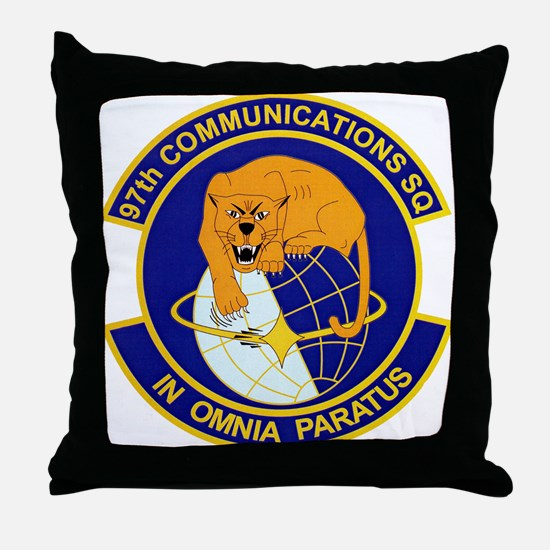 97th Communications Throw Pillow
