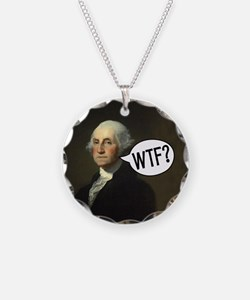 George WTF Necklace Circle Charm