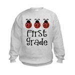 Cute 1st Grade Ladybug Kids Sweatshirt