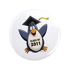 "Class of 2011 Penguin 3.5"" Button (100 pack)"