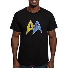 Kirk & Spock Men's Fitted T-Shirt (dark)