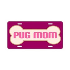 Pug Mom Dog Lover License Plate Gift