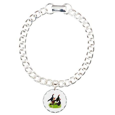 Oriental Gamefowl Charm Bracelet, One Charm
