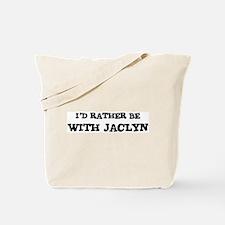 With Jaclyn Tote Bag