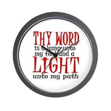 Psalm 119:105 Wall Clock