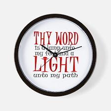 Psalm 119:105 Wall Clock