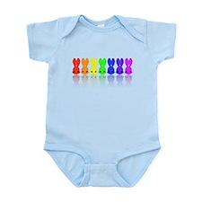 Rainbow Easter Bunnies Infant Bodysuit
