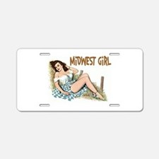 Midwest Girl Aluminum License Plate