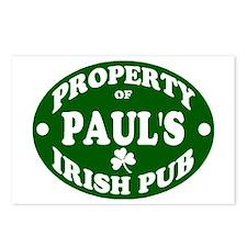 Paul's Irish Pub Postcards (Package of 8)