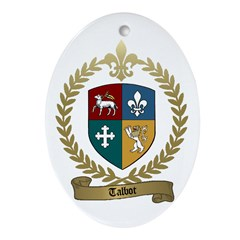 TALBOT Family Crest Oval Ornament