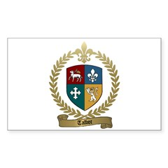 TALBOT Family Crest Rectangle Sticker