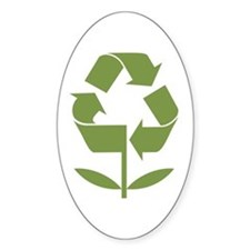 Recycle Flower Decal