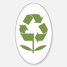 Recycle Flower Sticker (Oval)