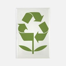 Recycle Flower Rectangle Magnet (100 pack)