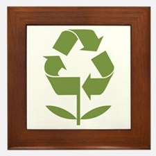 Recycle Flower Framed Tile