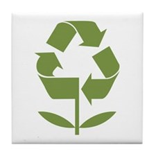 Recycle Flower Tile Coaster