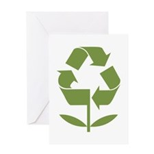 Recycle Flower Greeting Card