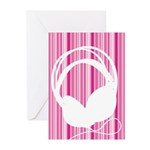 Headphone Silhouette Greeting Cards (Pk of 20)