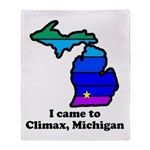 Say Yes To Michigan and The M Throw Blanket