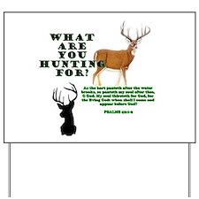 As the Deer Yard Sign