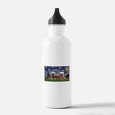 Starry / 2 Affenpinschers Water Bottle