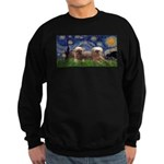 Starry / 2 Affenpinschers Sweatshirt (dark)