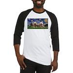 Starry / 2 Affenpinschers Baseball Jersey