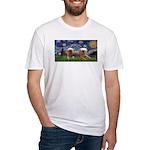 Starry / 2 Affenpinschers Fitted T-Shirt