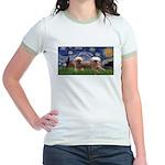 Starry / 2 Affenpinschers Jr. Ringer T-Shirt