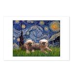Starry / 2 Affenpinschers Postcards (Package of 8)
