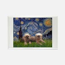 Starry / 2 Affenpinschers Rectangle Magnet (10 pac