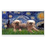 Starry / 2 Affenpinschers Sticker (Rectangle)