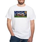 Starry / 2 Affenpinschers White T-Shirt