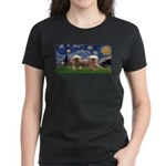 Starry / 2 Affenpinschers Women's Dark T-Shirt