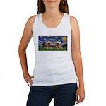 Starry / 2 Affenpinschers Women's Tank Top