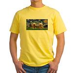 Starry / 2 Affenpinschers Yellow T-Shirt