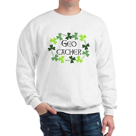 Geocacher Shamrock Oval Sweatshirt