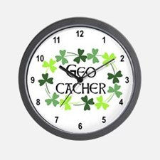 Geocacher Shamrock Oval Wall Clock