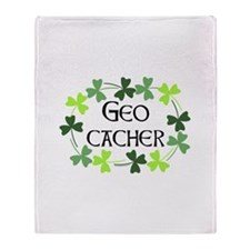 Geocacher Shamrock Oval Throw Blanket