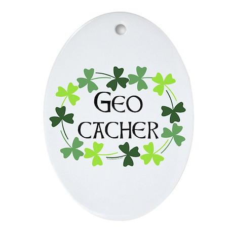 Geocacher Shamrock Oval Ornament (Oval)